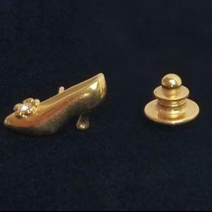 Vintage Avon High Heel Lapel Tack Pin